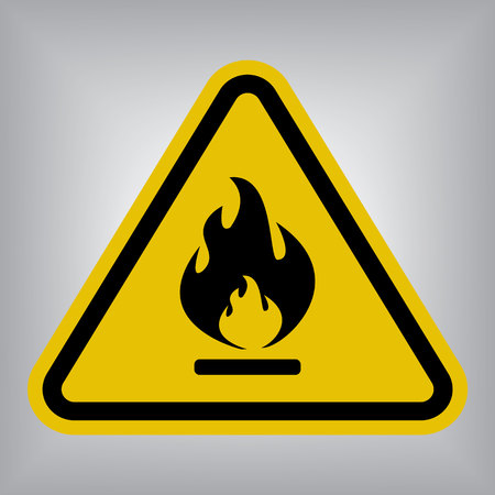 hazard: Flammable Warning Sign