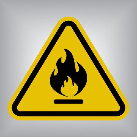signos de precaucion: Inflamable de la señal