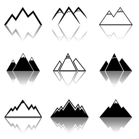 mountain peek: Mountain Icons Illustration