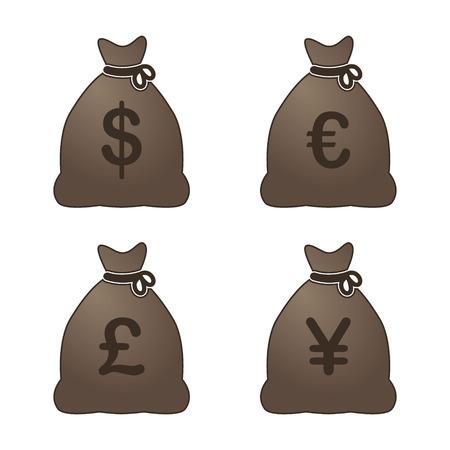 Money Bags Ilustração Vetorial