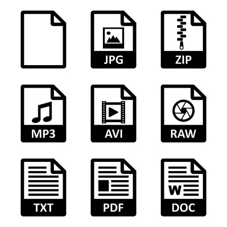 wort: Datei-Icons Illustration