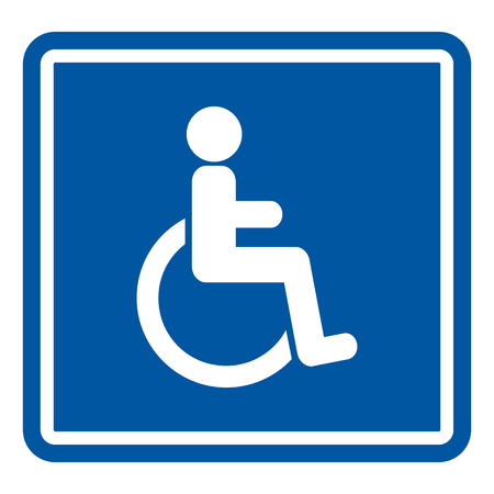 paralyze: Disabled Handicap Icon