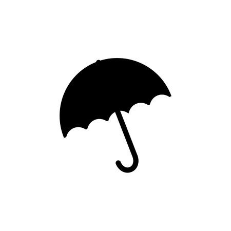 resistant: Umbrella Icon. Flat Style Vector Illustration