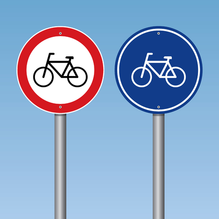 no people: Bicycle Traffic Road Sign Vector Illustration Illustration