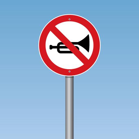 ないホーンの交通標識