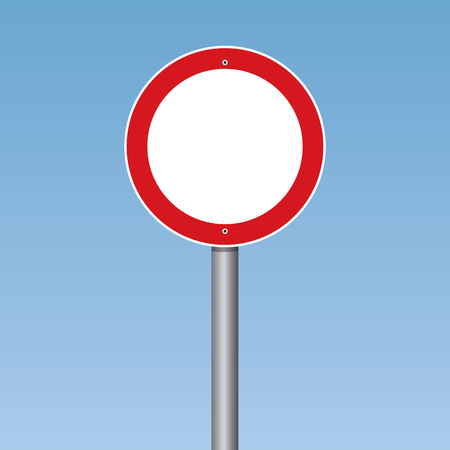 No vehicles Traffic Road Sign Vector Illustration