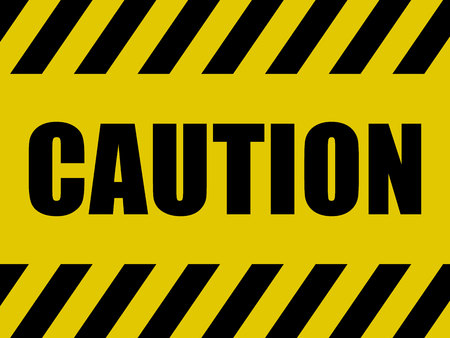 Caution Sign Background. Black and Yellow Board