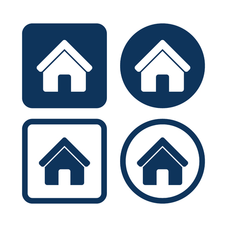 residential houses: Home Homepage Web Blue Buttons for Apps Programs