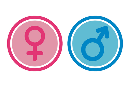Female And Male Signs in Circles