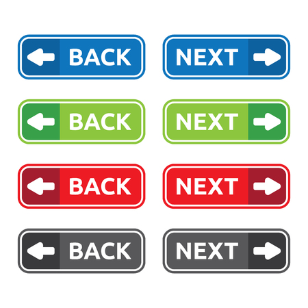 Back and Next Web and Apps Buttons