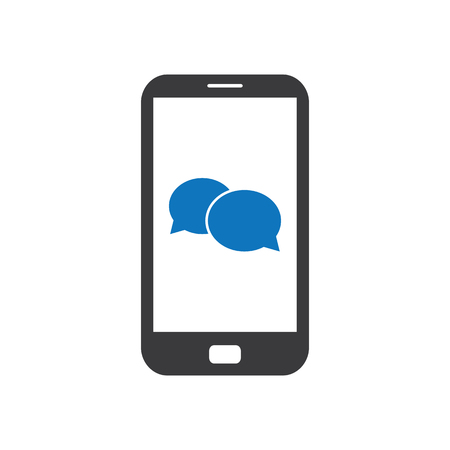 Mobile Phone Chat Icon