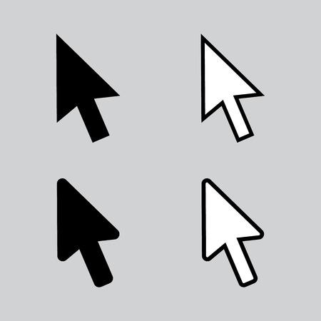 Clean vector modern set of arrow cursors symbol icons 向量圖像