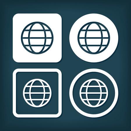 Web Internet Icon. Vector Buttons.