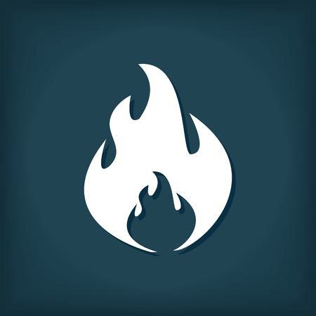Fire Vector Icon. Fire Flame Symbol