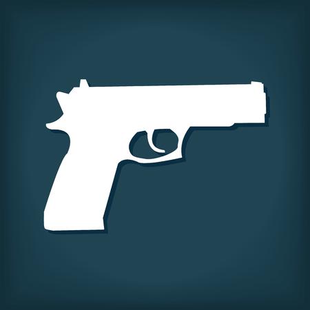 Pistol Gun Icon 向量圖像