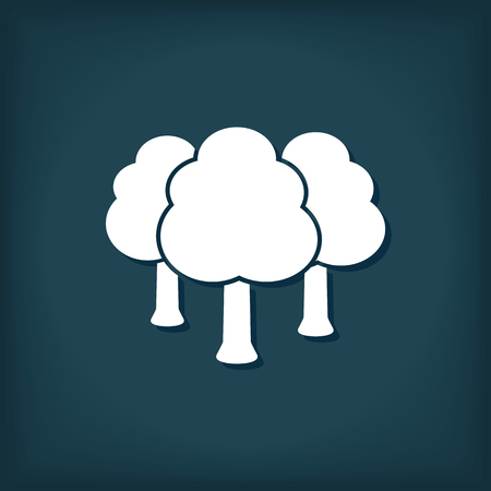 Forest Tree Icon. Flat Style Vector Illustration