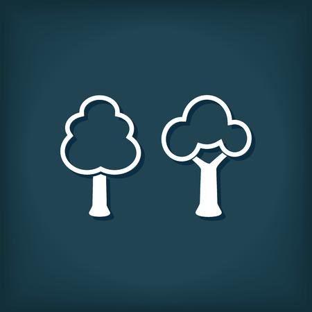 Tree Icon. Flat Style Vector Illustration 向量圖像