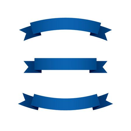 Set of Blue Ribbons  Illustration