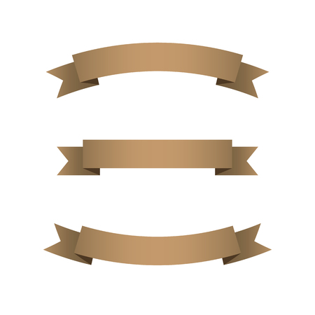 Set of Brown Ribbons  Illustration