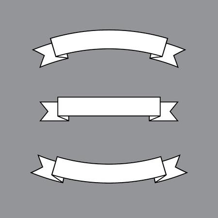 Set of White Ribbons  Illustration 向量圖像