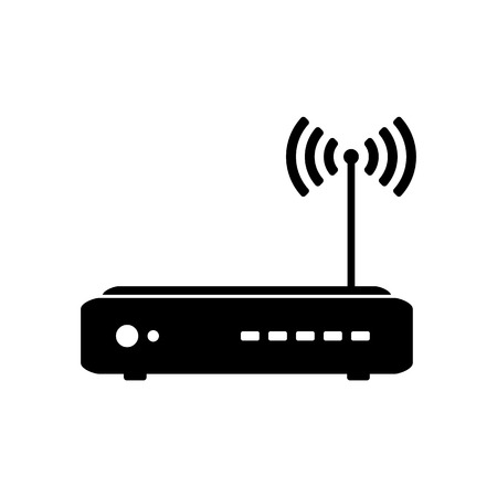 Illustration of Wireless Internet Router Icon