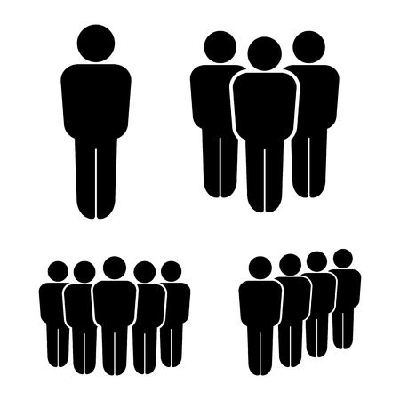 Person And Group People Team Icons Business People Team Vector illustration.