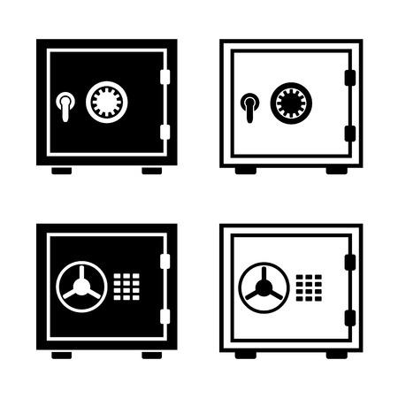 Safe Money Bank Security Vector Icon