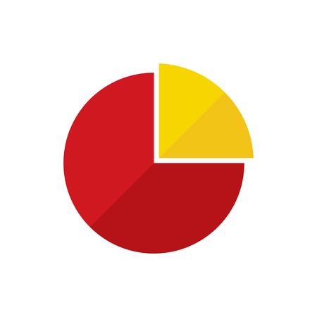 Pie Chart Flat Icon Illustration