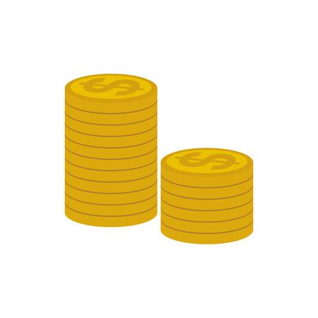 Dollar Coins Money Flat Icon