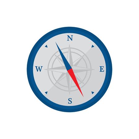 Compass Flat Icon Illustration 向量圖像