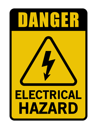 Danger Electrical Hazard Triangle Vector Black And Yellow Sign