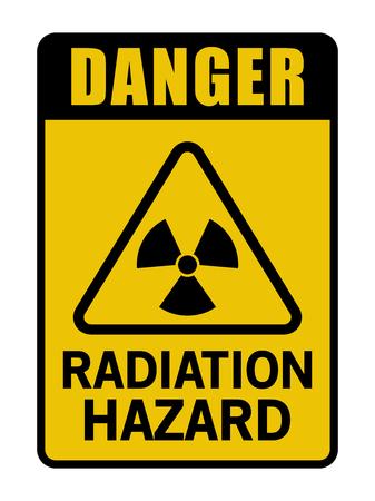 Danger Radiation Hazard Caution Sign Black And Yellow Stock Illustratie