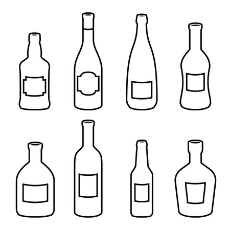 Bottle Vector Icons Beer Wine Whisky