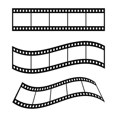 Ilustración en blanco del marco de la tira de película - Vector