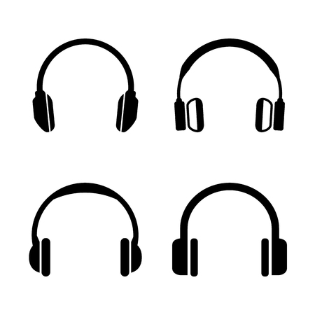 Headphone Icons Set Simple Vector Symbols - Vector Иллюстрация