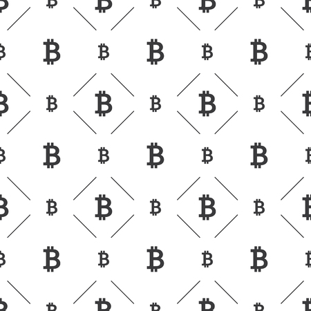 Bitcoin Symbol Seamless Pattern Background - Vector 版權商用圖片 - 119106184