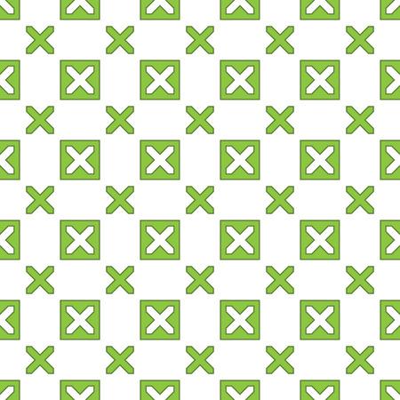 Green Geometric Seamless Pattern Background - Vector