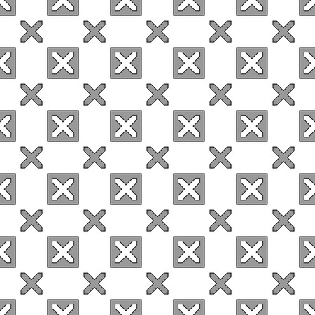 Grey Geometric Seamless Pattern Background - Vector