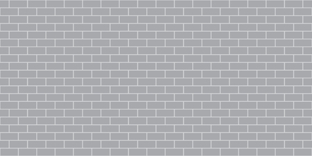 Seamless Brick Wall Pattern Background - Vector