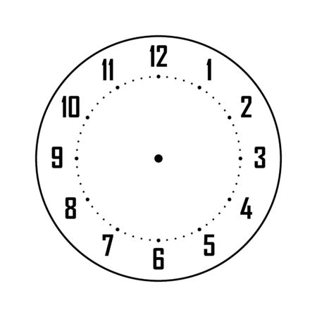 Blank Clock Face Numbers