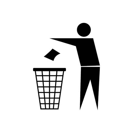 Do Not Litter Recycle Sign Vector Icon
