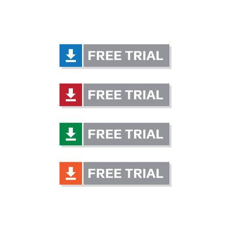 Free Trial Button Sticker Download