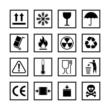 Package Vector Icons Symbol Set