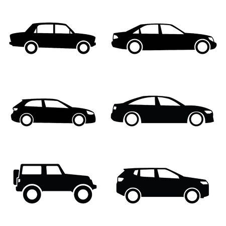 Car Transportation Vector Icons Illustration