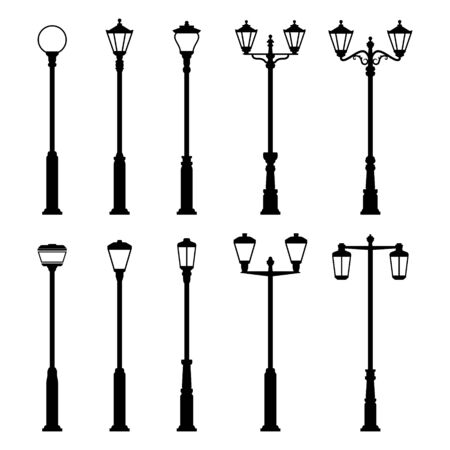 Street Lamp Lights Vector Icons