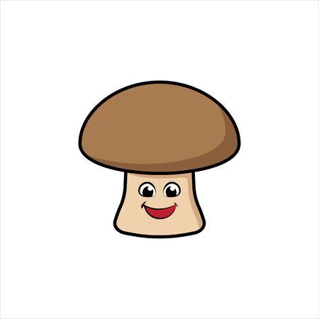 Mushroom Vector Illustration Cartoon Icon