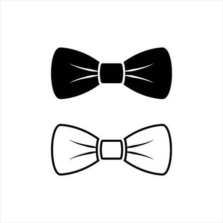 Bow Tie Vector Icon Symbol Ilustracje wektorowe