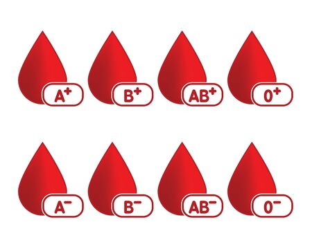 Blood Type Drop Vector Illustration Symbol Icon