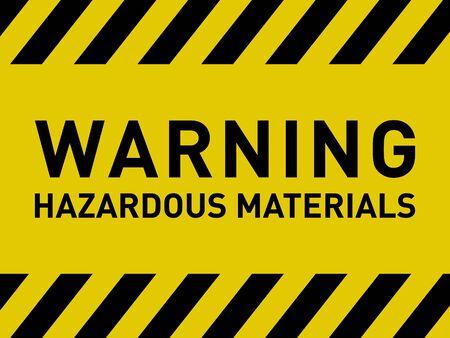 Warning Hazardous Materials Caution Sign Vector Ilustración de vector