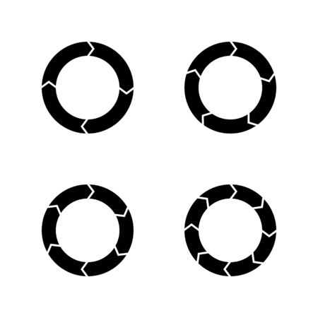 Infographic Circle Vector Icon Set